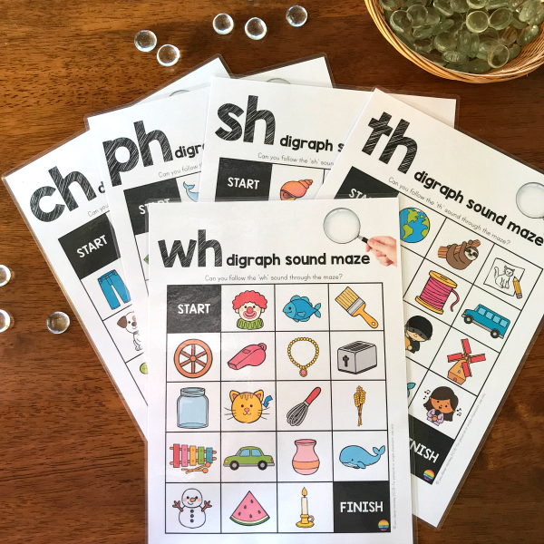 Digraph Sound Mazes + I Spy Games - CH PH SH TH WH SOUND BUNDLE