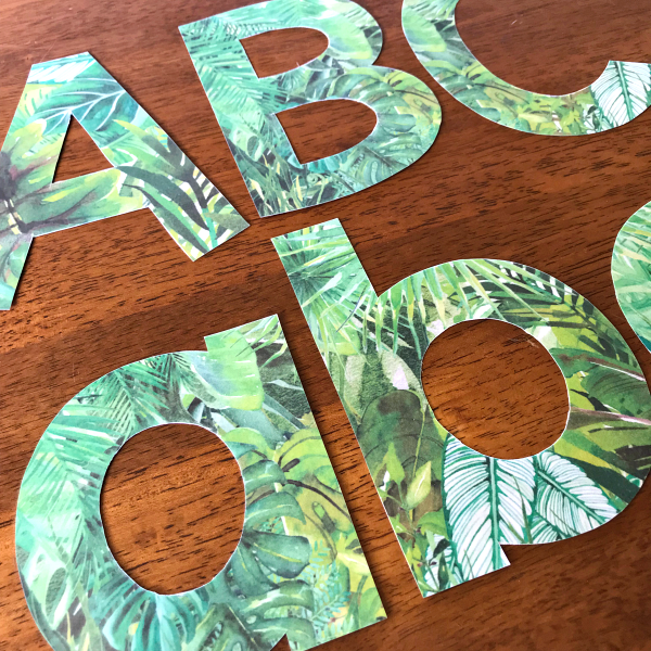 Tropical Themed Letters and Numbers