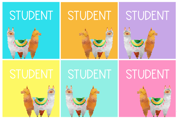 LLAMA Editable Classroom Labels + Signs Pack
