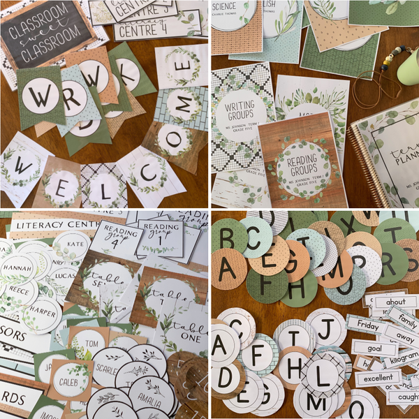 MODERN FARMHOUSE Classroom Decor - Growing BUNDLE
