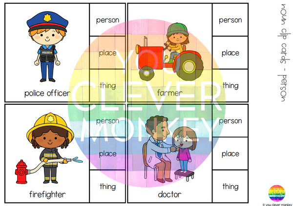Noun Sorting - Person, Place or Thing BUNDLE