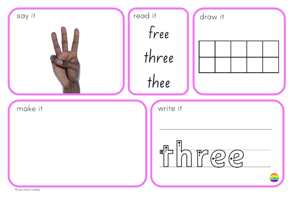 Number Word Mats 0-20 BUNDLE