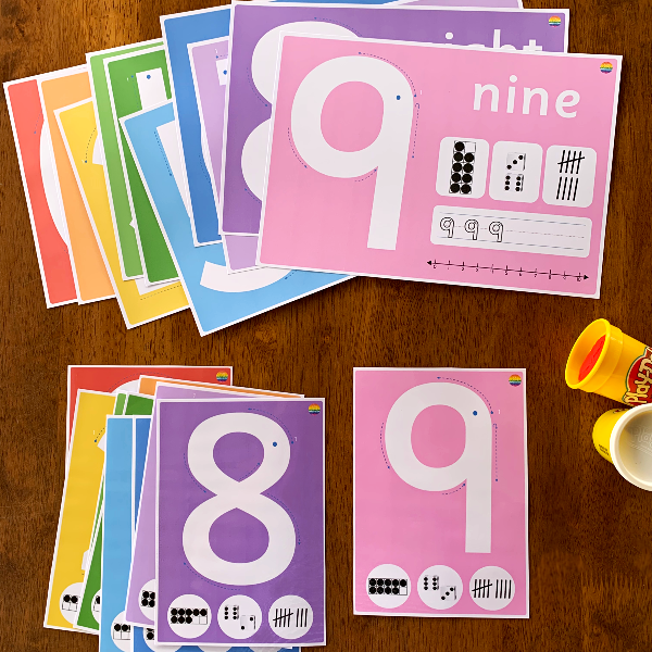 Number Playdough Prewriting Mats