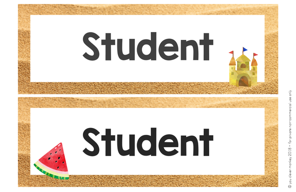 OCEAN Editable Classroom Labels + Signs