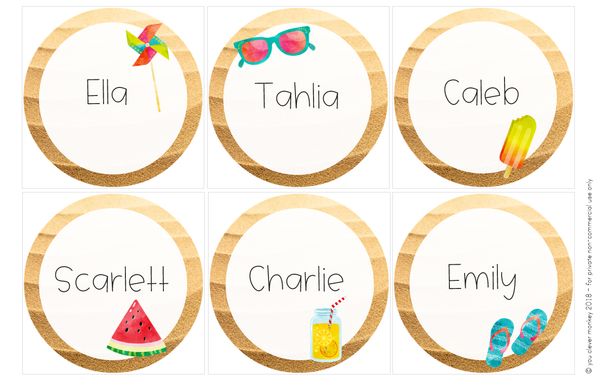 Editable Ocean Themed Classroom Labels and Signs
