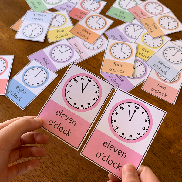 Pick A Partner - Telling Time Cards