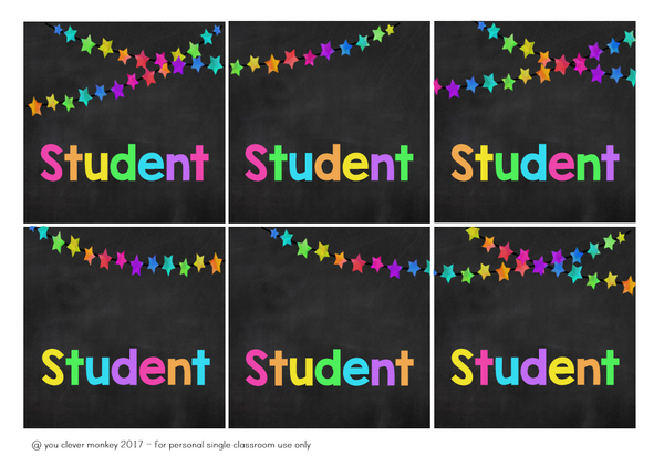 RAINBOW STAR Editable Classroom Labels + Signs