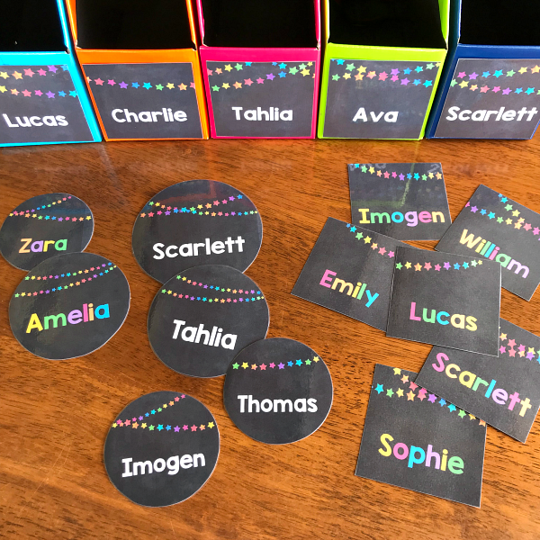 editable display labels for classrooms