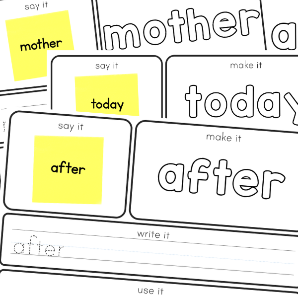 Editable Sight Word Mats
