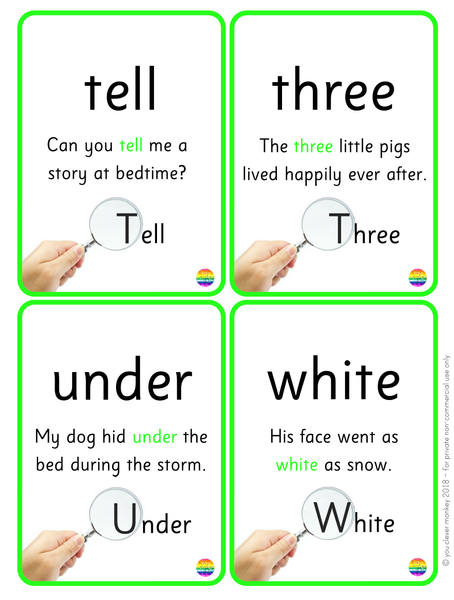Sight Word Cards - 101-200