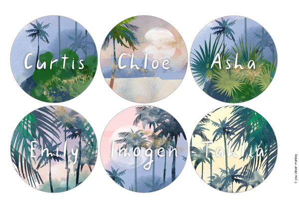 TROPICAL COAST Classroom Labels + Signs Pack