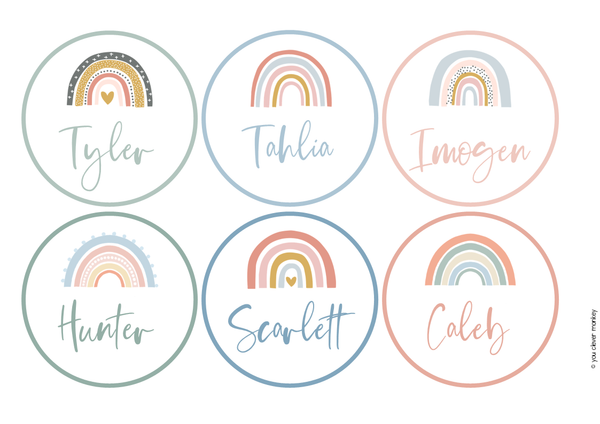 BOHO RAINBOW Classroom Decor - BUNDLE