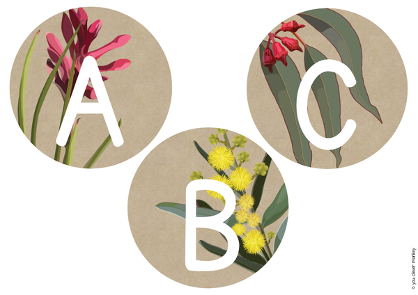 AUSSIE FLORA Word Wall Pack