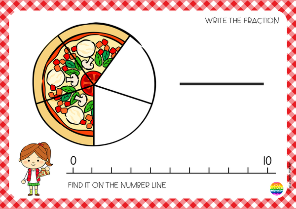 Pizza Fraction Mats