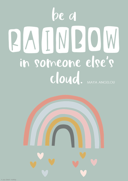 BOHO RAINBOW Inspirational Growth Mindset Posters