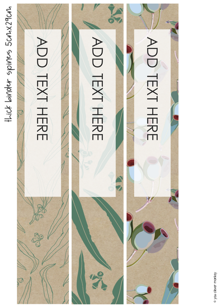 AUSSIE FLORA Editable Binder Covers Pack