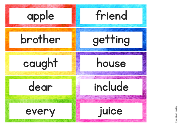 WATERCOLOUR PAINT Word Wall Pack