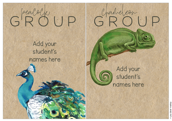 WILD TROPICS Classroom Labels + Signs Pack