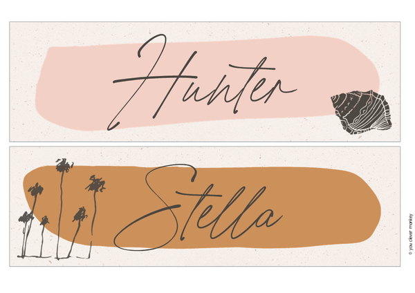 BOHO SUMMER Classroom Labels + Signs Pack