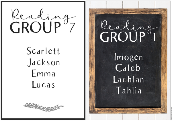 MODERN FARMHOUSE Classroom Labels + Signs
