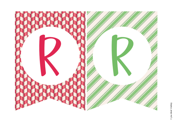 CHRISTMAS Bunting Pack (Retro)