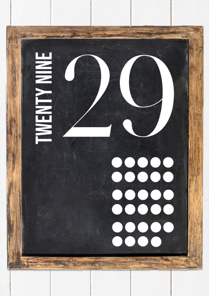 MODERN FARMHOUSE Number Posters