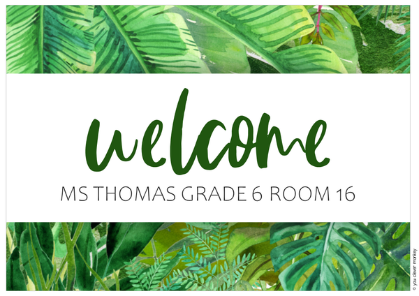 TROPICAL COAST Classroom Door Display