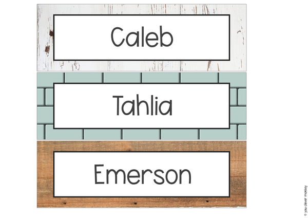 MODERN FARMHOUSE Desk Plates