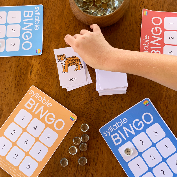Syllable BINGO Game