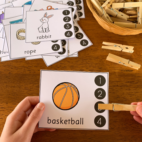 Syllable Clip Cards