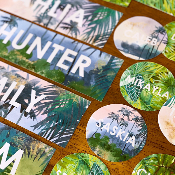 Tropical Editable Classroom Labels and Signs