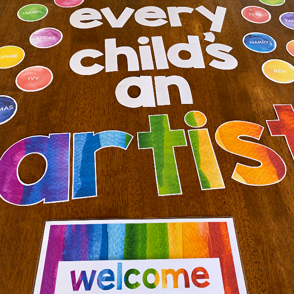 WATERCOLOUR PAINT Classroom Door Display + Banners