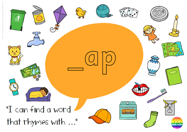 Word Family Short Vowel Sound Rhyming Word Mats