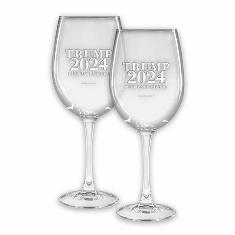 Trump 2024 Colossal Wine Glasses (set of 2)