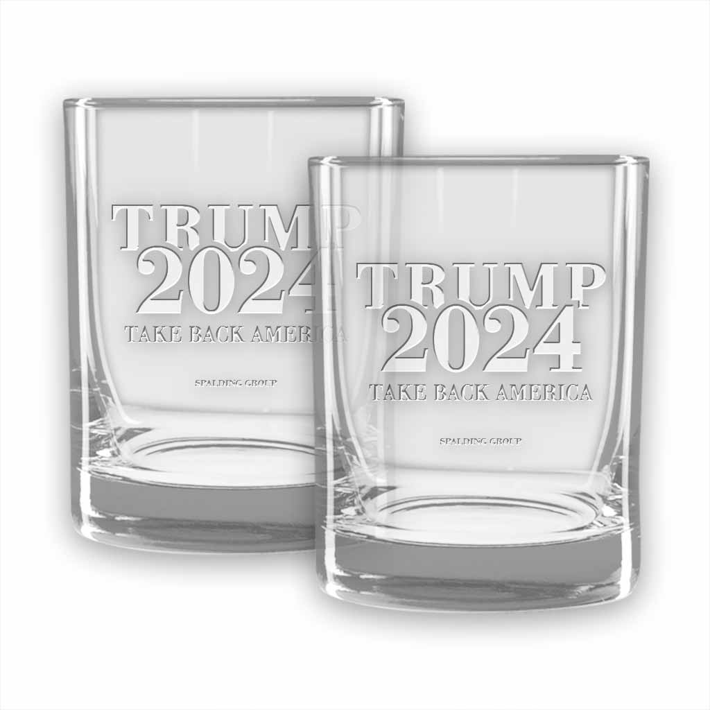 Trump 2024 Double Old Fashioned Glasses (set of 2)