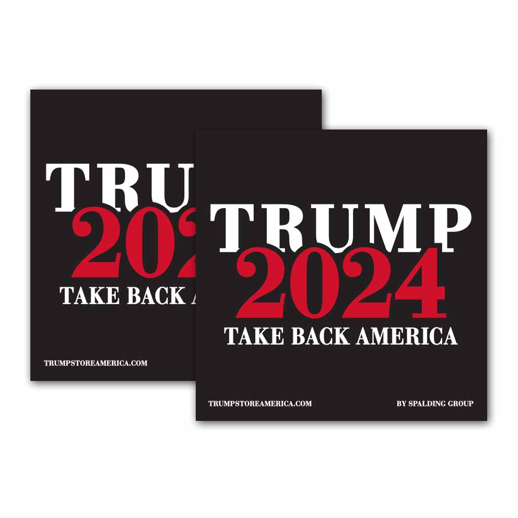 Trump 2024 Bumper Sticker - (Pack of 2)