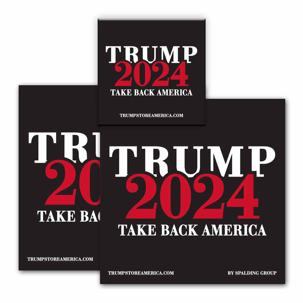 Trump 2024 Bumper & Button Kit