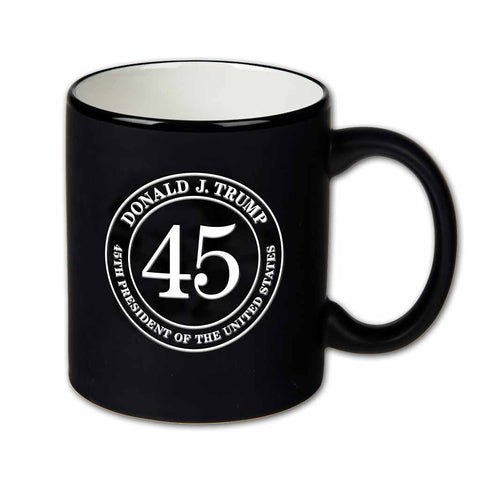 Trump 45 Black and White Mug (Personalization Option)