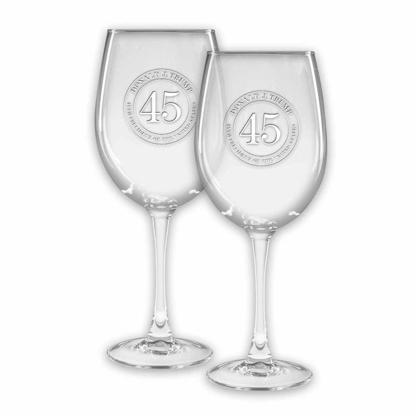 Trump 45 Colossal Wine Glasses (set of 2) (personalization option)