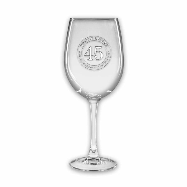 Trump 45 Colossal Wine Glasses - Set of 2 - (Personalization Option)