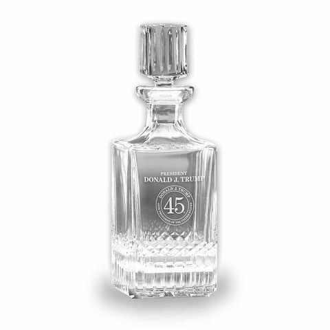 Trump 45 Crystal Decanter