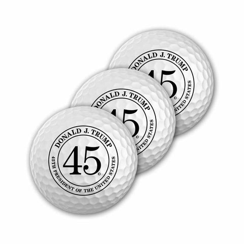 Donald Trump 45th President Golf Balls (Set of 3)