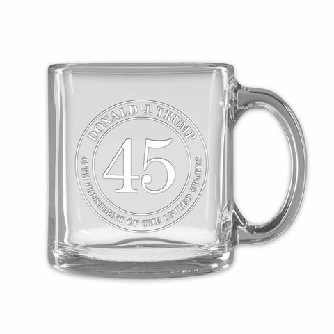 Trump 45 Tempered Clear Mug (personalization option)