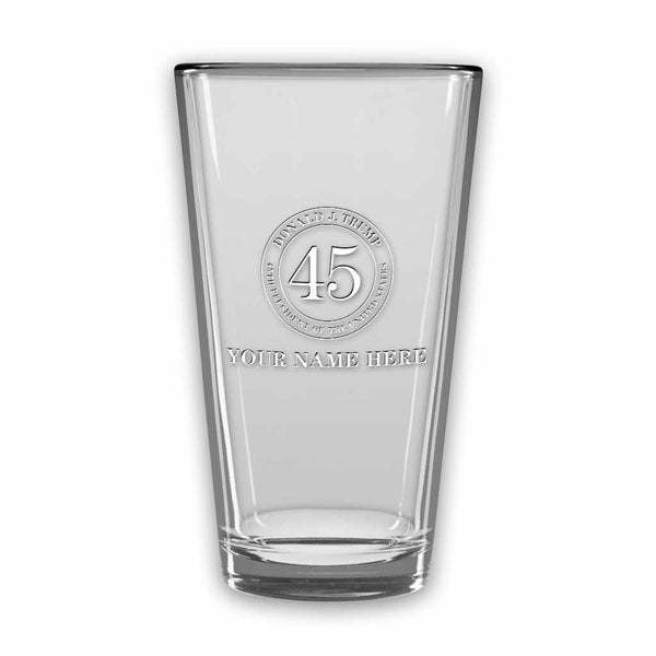 Trump 45 Micro-Brew Glasses (Set of 4) (Personalization Option)