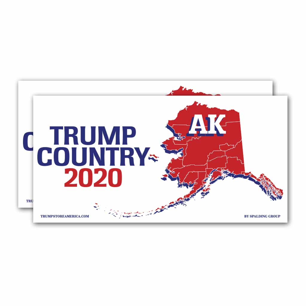 Alaska is Trump Country 2020 – Bumper Sticker pack of 2