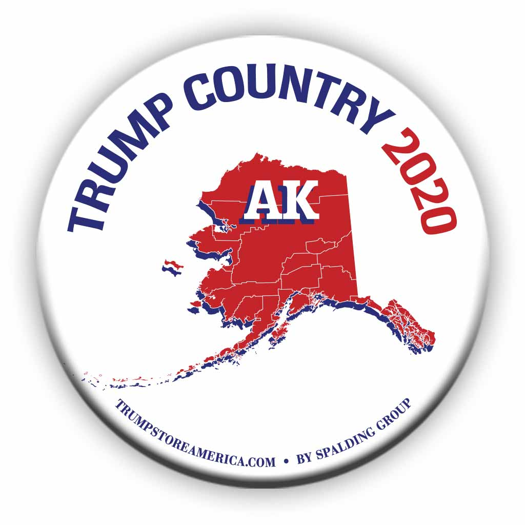 "Alaska is Trump Country 2020 – 3"" Round Button"