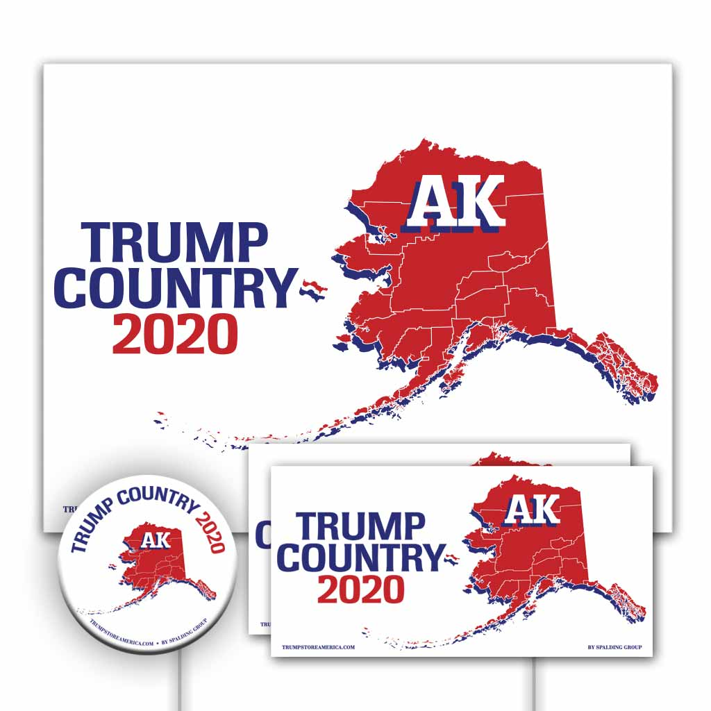 Alaska is Trump Country Yard Sign Kit