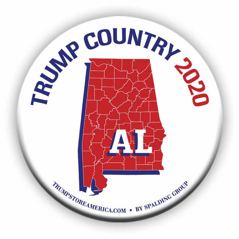 "Alabama is Trump Country 2020 – 3"" Round Button"