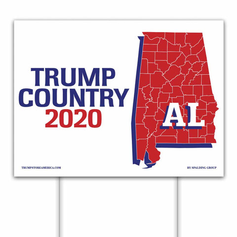 Alabama is Trump Country 2020 – Yard/Rally Sign
