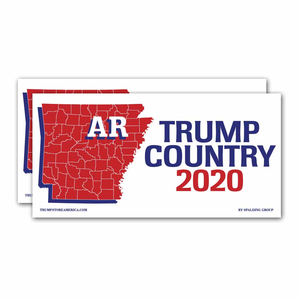 Arkansas is Trump Country 2020 – Bumper Sticker pack of 2
